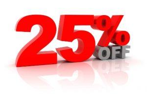 25-percento-di-sconto